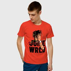 Футболка хлопковая мужская Juice WRLD цвета рябиновый — фото 2