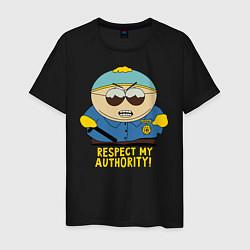Футболка хлопковая мужская South Park, Эрик Картман цвета черный — фото 1