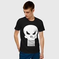 Футболка хлопковая мужская The Punisher Череп цвета черный — фото 2