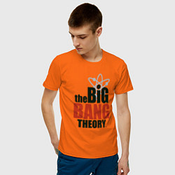Футболка хлопковая мужская Big Bang Theory logo цвета оранжевый — фото 2
