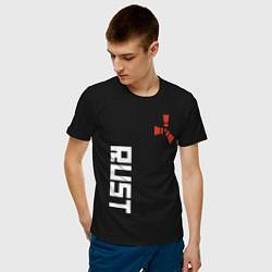 Футболка хлопковая мужская RUST цвета черный — фото 2