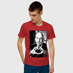 Футболка хлопковая мужская Ленин Oko цвета красный — фото 2