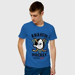 Футболка хлопковая мужская ANAHEIM DUCKS цвета синий — фото 2