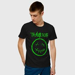 Мужская хлопковая футболка с принтом TRAVIS SCOTT, цвет: черный, артикул: 10220225100001 — фото 2