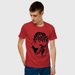 Футболка хлопковая мужская TRAVIS SCOTT цвета красный — фото 2