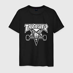 Футболка хлопковая мужская Thrasher Z цвета черный — фото 1