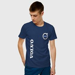 Футболка хлопковая мужская VOLVO цвета тёмно-синий — фото 2