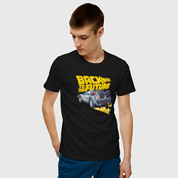 Футболка хлопковая мужская Back to the Future цвета черный — фото 2