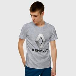 Футболка хлопковая мужская RENAULT цвета меланж — фото 2