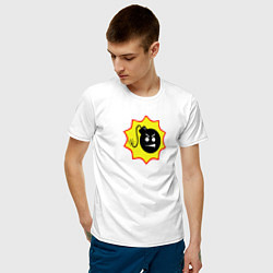 Футболка хлопковая мужская Serious Sam 4 цвета белый — фото 2