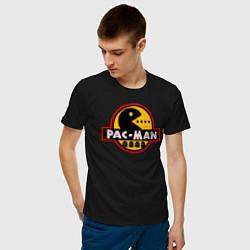 Футболка хлопковая мужская PAC-MAN цвета черный — фото 2
