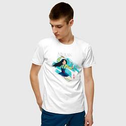 Футболка хлопковая мужская Mulan Warrior цвета белый — фото 2