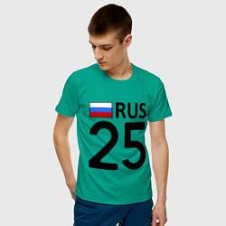 Футболка хлопковая мужская RUS 25 цвета зеленый — фото 2