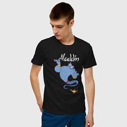Футболка хлопковая мужская Джинн цвета черный — фото 2