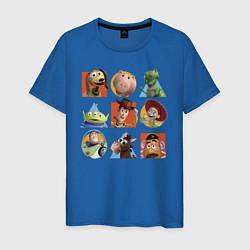 Футболка хлопковая мужская Toy Story цвета синий — фото 1