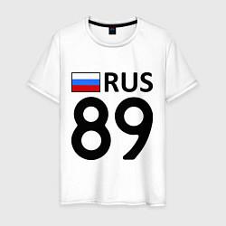 Футболка хлопковая мужская RUS 89 цвета белый — фото 1
