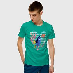 Футболка хлопковая мужская Finding Nemo цвета зеленый — фото 2