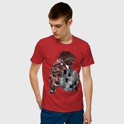 Футболка хлопковая мужская Baymax Big Hero 6 цвета красный — фото 2