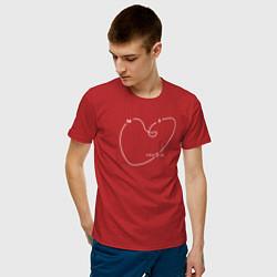 Футболка хлопковая мужская Макс Барских: Моя любовь цвета красный — фото 2