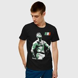 Мужская хлопковая футболка с принтом Конор МакГрегор, цвет: черный, артикул: 10276091300001 — фото 2