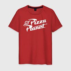 Футболка хлопковая мужская Pizza Planet цвета красный — фото 1