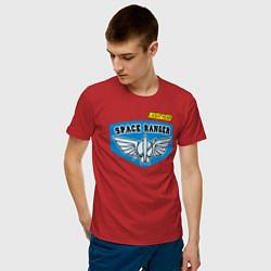 Футболка хлопковая мужская Space Ranger цвета красный — фото 2