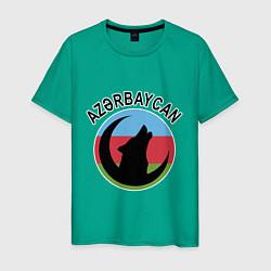 Футболка хлопковая мужская Азербайджан цвета зеленый — фото 1