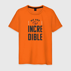 Футболка хлопковая мужская The Incredibles цвета оранжевый — фото 1