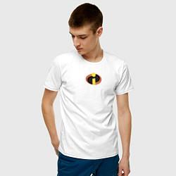 Футболка хлопковая мужская The Incredibles цвета белый — фото 2
