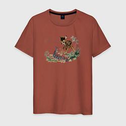 Футболка хлопковая мужская Bambi цвета кирпичный — фото 1
