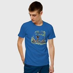 Футболка хлопковая мужская Bambi цвета синий — фото 2