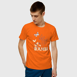 Футболка хлопковая мужская Bambi цвета оранжевый — фото 2