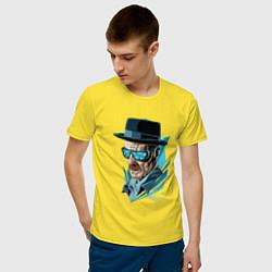 Футболка хлопковая мужская Хайзенберг цвета желтый — фото 2