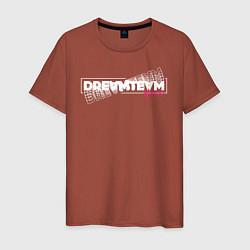 Футболка хлопковая мужская Logo DreamTeam House цвета кирпичный — фото 1