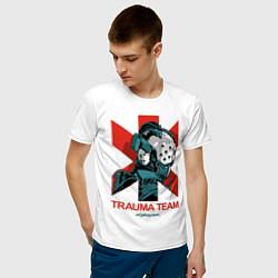 Футболка хлопковая мужская TRAUMA TEAM Cyberpunk 2077 цвета белый — фото 2