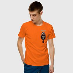 Футболка хлопковая мужская Taskmaster цвета оранжевый — фото 2