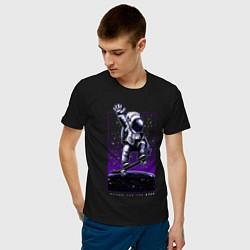 Футболка хлопковая мужская Atam цвета черный — фото 2