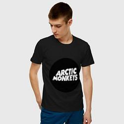 Футболка хлопковая мужская Arctic Monkeys Round цвета черный — фото 2
