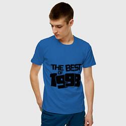 Футболка хлопковая мужская The best of 1998 цвета синий — фото 2