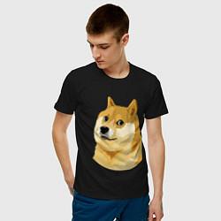 Футболка хлопковая мужская Doge цвета черный — фото 2
