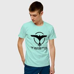 Футболка хлопковая мужская Tiesto цвета мятный — фото 2