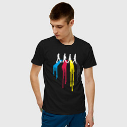 Футболка хлопковая мужская Abbey Road Colors цвета черный — фото 2