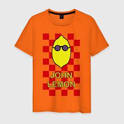 Футболка хлопковая мужская John Lemon цвета оранжевый — фото 1