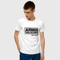 Мужская хлопковая футболка с принтом Armin van Buuren, цвет: белый, артикул: 10061383400001 — фото 2