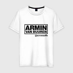 Футболка хлопковая мужская Armin van Buuren цвета белый — фото 1