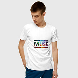 Футболка хлопковая мужская Muse Colour цвета белый — фото 2
