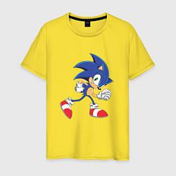 Футболка хлопковая мужская Sonic the Hedgehog цвета желтый — фото 1