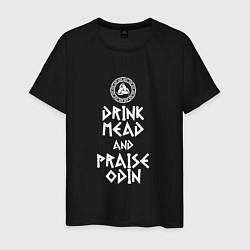 Футболка хлопковая мужская Drink Mead and Praise Odin - фото 1