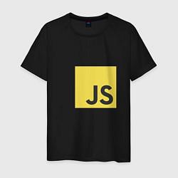 Футболка хлопковая мужская JS return true; (black) цвета черный — фото 1