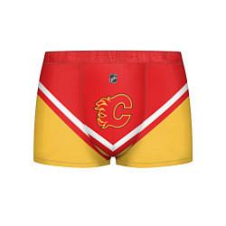 Трусы-боксеры мужские NHL: Calgary Flames цвета 3D-принт — фото 1